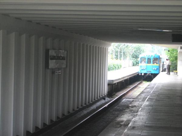 """Станція """"Чернігівська"""". Платформа під шляхопроводом."""