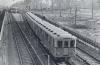 """Поїзд з вагонів Д наближається до ст. """"Дарниця"""". Приблизно 1965."""