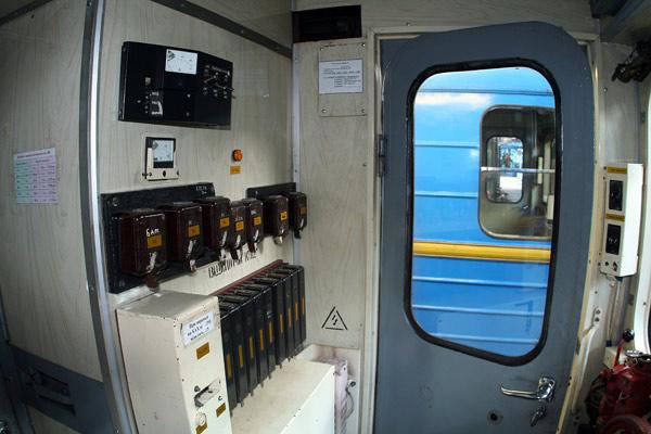 Вагон типу Єж. Перемикачі. / Вагон типа Еж. Переключатели. / Wagon of type Ezh. High-voltage switches.